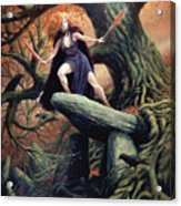Macha The Irish Goddess Of War Acrylic Print