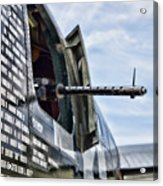 Machine Gun Wwii Aircraft Color Acrylic Print