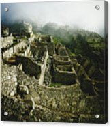 Machu Picchu In The Fog Acrylic Print