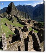Machu Picchu Residential Sector Acrylic Print