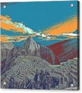 Machu Picchu Travel Poster Acrylic Print