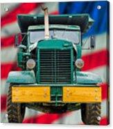 Mack Dump Truck Acrylic Print