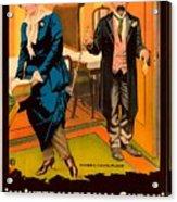 Mack Sennett Comedy - An International Sneak 1917 Acrylic Print