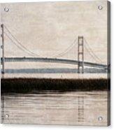 Mackinac Bridge Grunge Acrylic Print