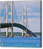 Mackinac Bridge Acrylic Print by Michael Peychich