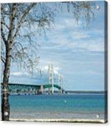 Mackinac Bridge Park Acrylic Print