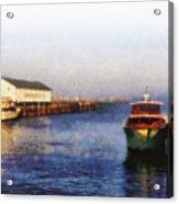 Mackinac Island Michigan Ferry Dock Acrylic Print
