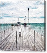 Mackinac Island Michigan Shuttle Pier Pa 02 Acrylic Print