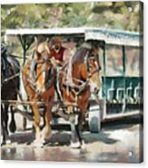 Mackinac Island Transportation - Surrey With The Fringe On Top Acrylic Print