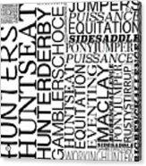 Maclay Word Art Acrylic Print