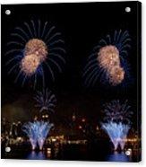 Macy's Fireworks IIi Acrylic Print by David Hahn