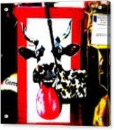 Mad Cow ...framed  Acrylic Print