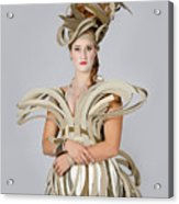 Isabel In Mad Hutter Acrylic Print