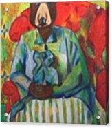 Madame Bear In A Chair Acrylic Print
