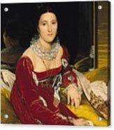 Madame De Senonnes Acrylic Print
