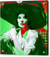 Madame Kate And The Big Hat Acrylic Print