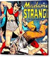 Madame Strange Comic Super Hero Acrylic Print