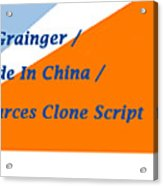 Made In China Clone - Made In China Script Acrylic Print