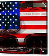 Made In The Usa . Chevy Corvette Acrylic Print by Wingsdomain Art and Photography
