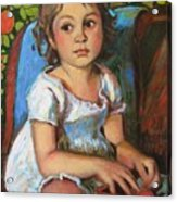 Madeline And The White Dress Acrylic Print