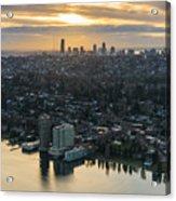Madison Park And The Seattle Skyline Acrylic Print