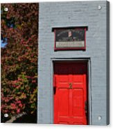 Madison Red Fire House Door Acrylic Print