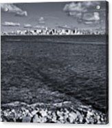Madison Skyline - Black And White Acrylic Print
