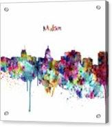 Madison Skyline Silhouette Acrylic Print