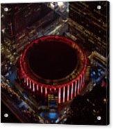Madison Square Garden Aerial Acrylic Print
