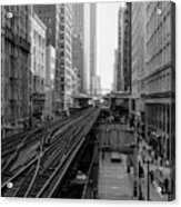 Madison St - Wabash Station - Chicago Loop Acrylic Print