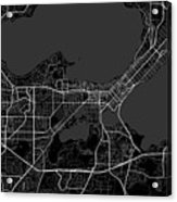 Madison Wisconsin Usa Dark Map Acrylic Print