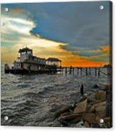 Madisonville Katrina Ghost Boat  Acrylic Print