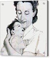 Madona And Baby Acrylic Print