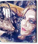 Madona Watercolor Acrylic Print