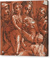 Madonna And Child Accompanied By Saints Acrylic Print