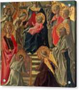 Madonna And Child Enthroned With Angels And Saints Acrylic Print