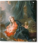 Madonna And Child Acrylic Print by Francois Boucher
