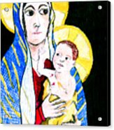 Madonna And Child Acrylic Print by Jame Hayes