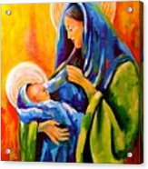 Madonna And Child Painting Acrylic Print