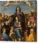 Madonna And Child With Saint Anne And The Patron Saints Of Florence Acrylic Print