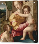 Madonna And Child With Saint John The Baptist Acrylic Print