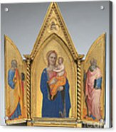 Madonna And Child With Saint Peter And Saint John The Evangelist [middle Panel] Acrylic Print
