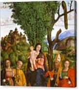 Madonna And Child With Saints Acrylic Print