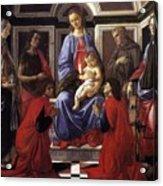 Madonna And Child With Six Saints Acrylic Print
