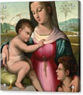 Madonna And Child With The Infant Saint John The Baptist Acrylic Print