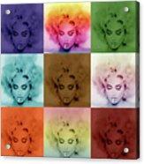 Madonna By Gbs Acrylic Print by Anibal Diaz