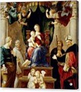 Madonna Del Baldacchino Raffaello Sanzio Da Urbino Raphael Raffaello Santi Acrylic Print