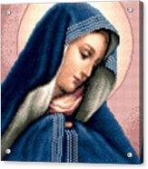Madonna Dolorosa Acrylic Print by Stoyanka Ivanova