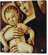 Madonna Greca - Detail Acrylic Print