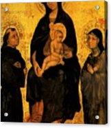 Madonna In Gloria Between Saint Francis And Santa Chiara Gentile Acrylic Print